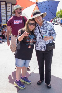 """Both challengers for the mayor's seat in San Diego are supporting Bernie. This is Rena Marrocco (aka """"The Liberal Diva"""") with Lori Saldana, mayoral candidate, Bernie supporter and long time friend."""